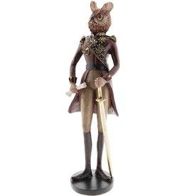 Uil Generaal beeld 31cm Owl General figurine 31cm
