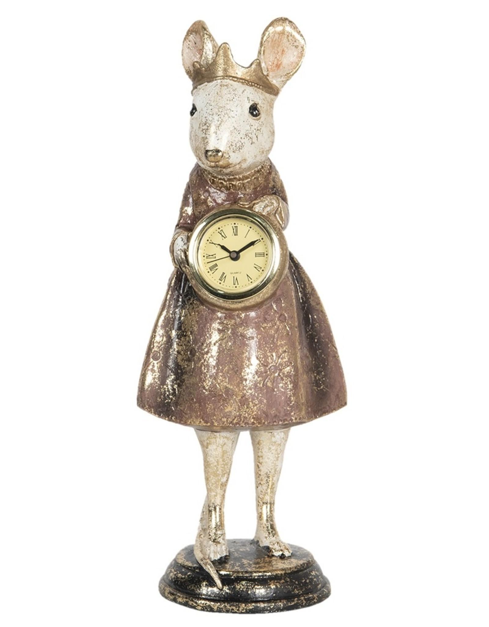 Muis Princess met Klok beeldje Giftware Beelden Collectables - Muis Princes met Klok beeldje 30cm