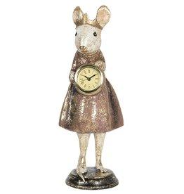 Muis Princess met Klok beeldje Mouse Princess with Clock figurine 30cm
