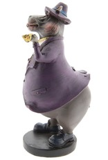 Nijlpaard Gentlemen met Pijp beeld Giftware Figurines Collectables - Hippopotamus Gentlemen with Pipe figurine 19cm