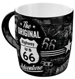 Nostalgic Art Highway 66 Adventure mok - magnetronen vaatwasser bestendigd