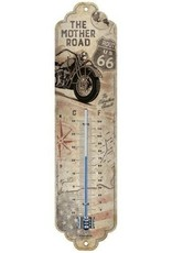 Nostalgic Art Giftware Beelden Collectables -Route 66 Bike Map Thermometer