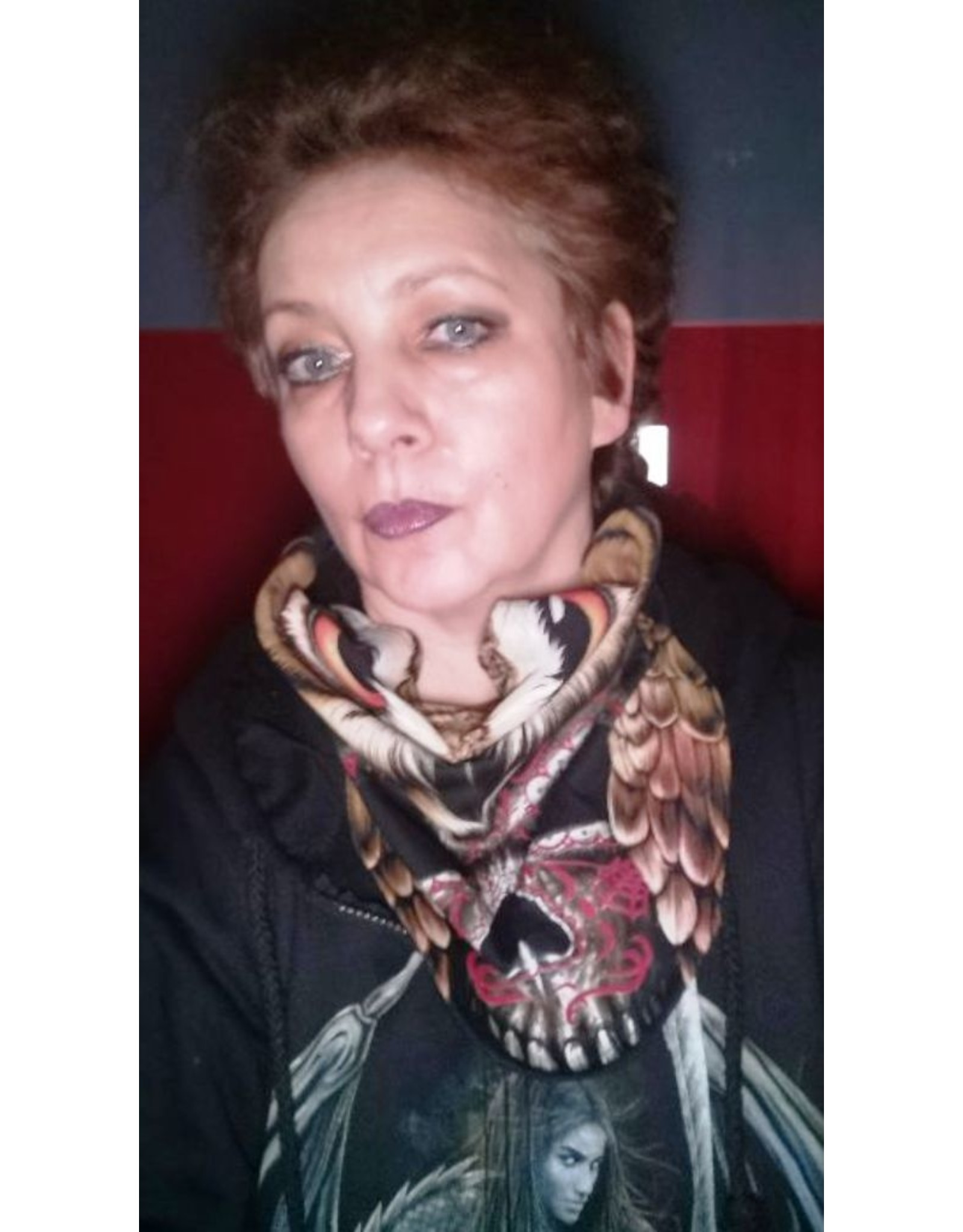 Wisdom Design Biker scarfs - Biker-scarf Owl and Skull