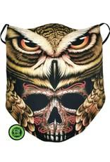 Wisdom Design Biker sjaals - Biker-sjaal Owl and Skull