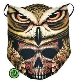 Wisdom Biker-scarf Owl and Skull