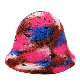 "Handgemaakt Felt hat ""Happy me""- hand felted, 100% wool"