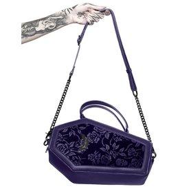 Killstar Killstar Vampire's Kiss coffin handbag (plum)