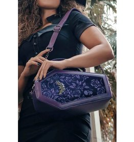 Killstar Killstar Vampire's Kiss coffin handbag (plum)