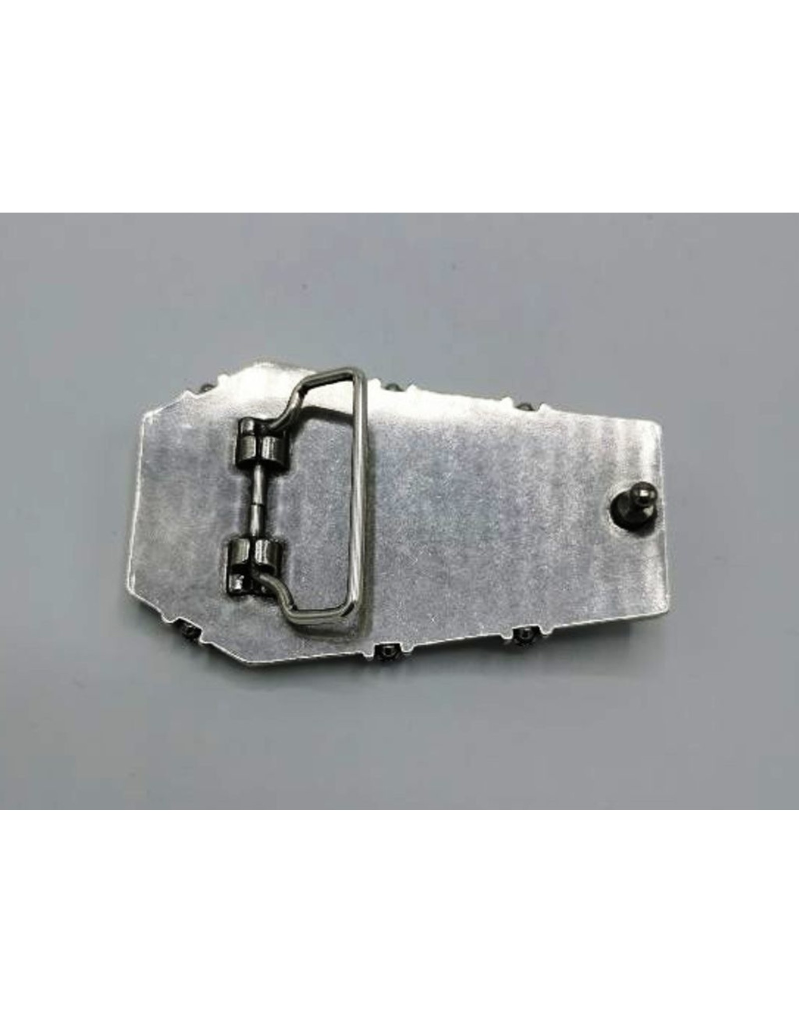 Acco Leather belts and buckles - Buckle Coffin with Skeleton