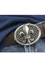 Acco Leather belts and buckles - Buckle French Lily - solid metal