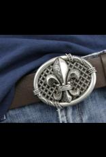 Leren riemen en buckles - Buckle Franse Lelie - massief metaal