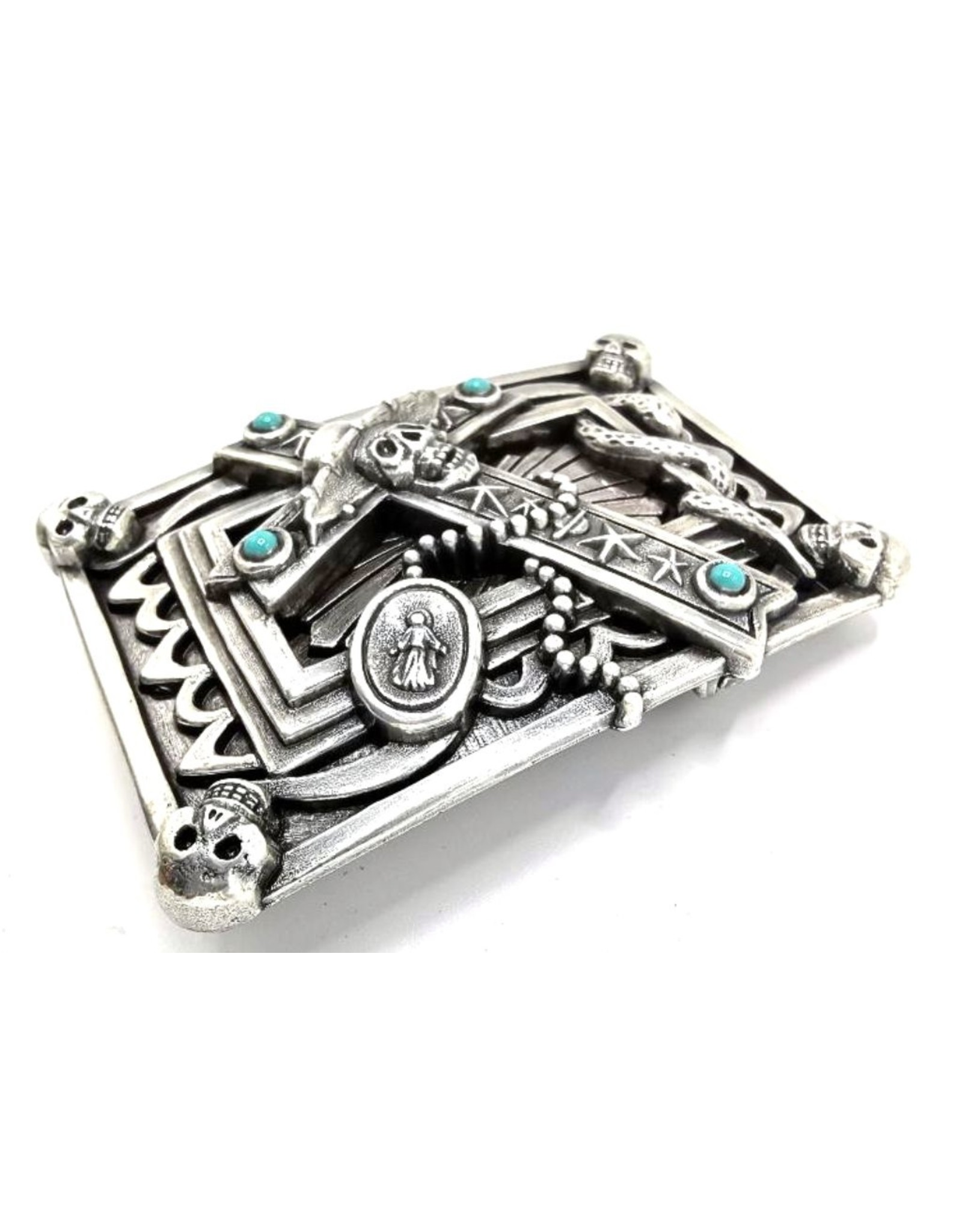 Acco Buckles - Buckle with Cross and Skulls - solid metal