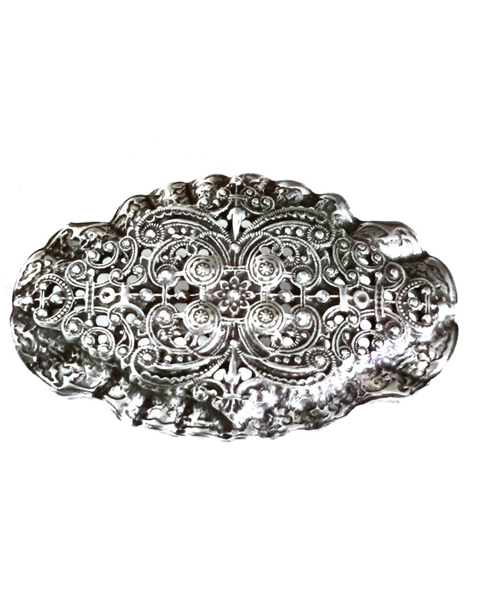 Acco Buckles - Buckle with Victorian Ornament - solid metal