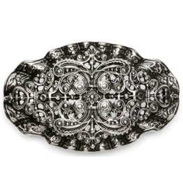 Acco Buckle with Victorian Ornament - solid metal