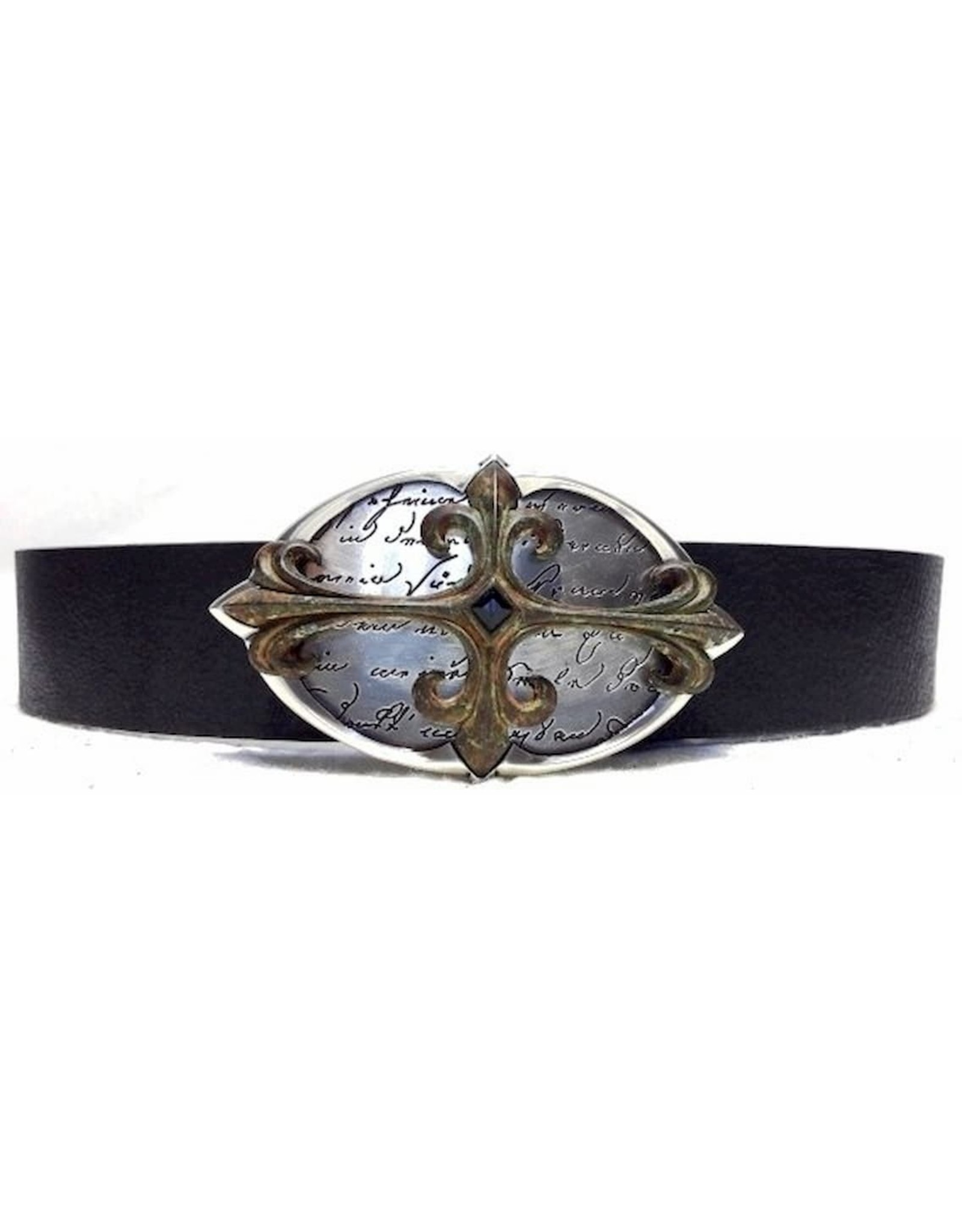 Acco Leather belts and buckles - Leather Belt with Buckle Used Cross2