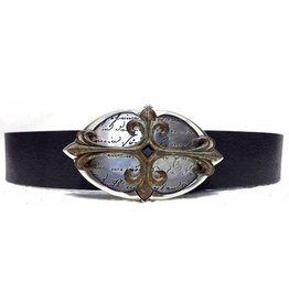 Acco Leather Belt with Buckle Used Cross2