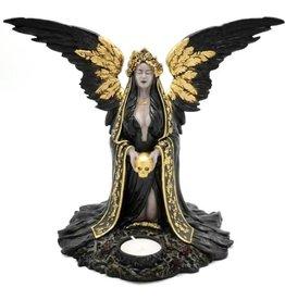 Teresina Dark Reaper Angel candle holder