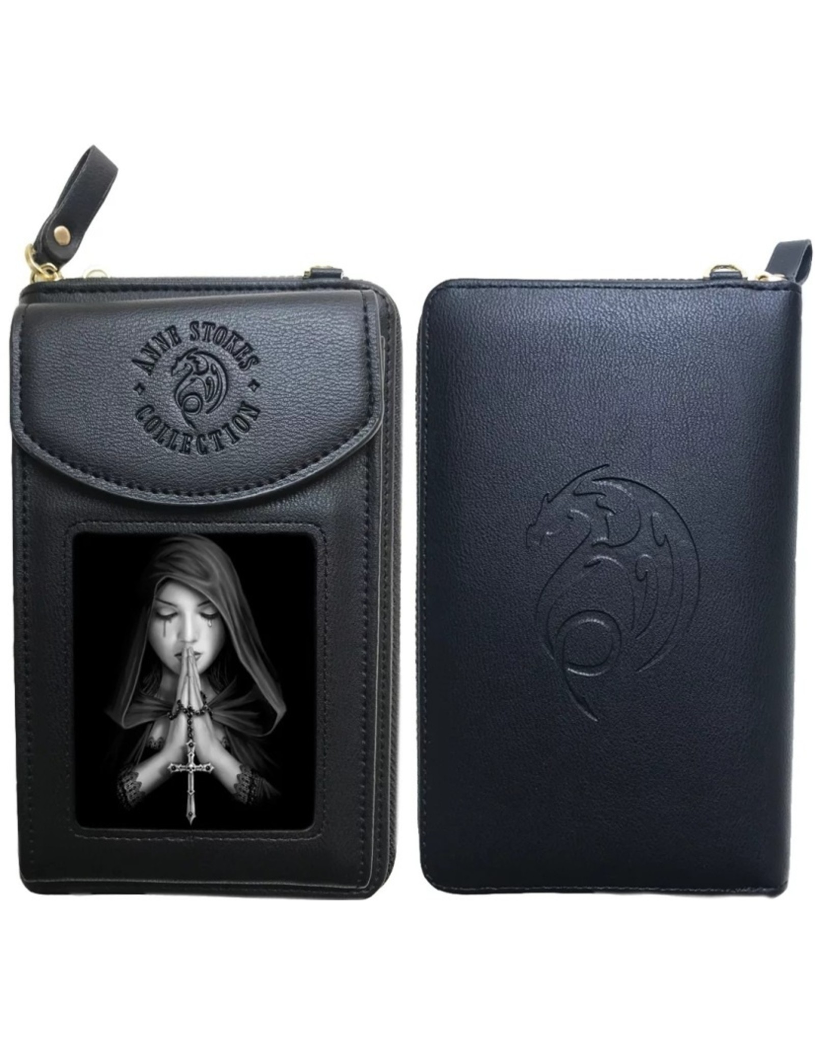 Anne Stokes 3D Lenticular Wallets and Purses - 3D Phone case Gothic Prayer - Anne Stokes
