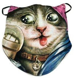 Wild Biker-scarf Beauty Cat