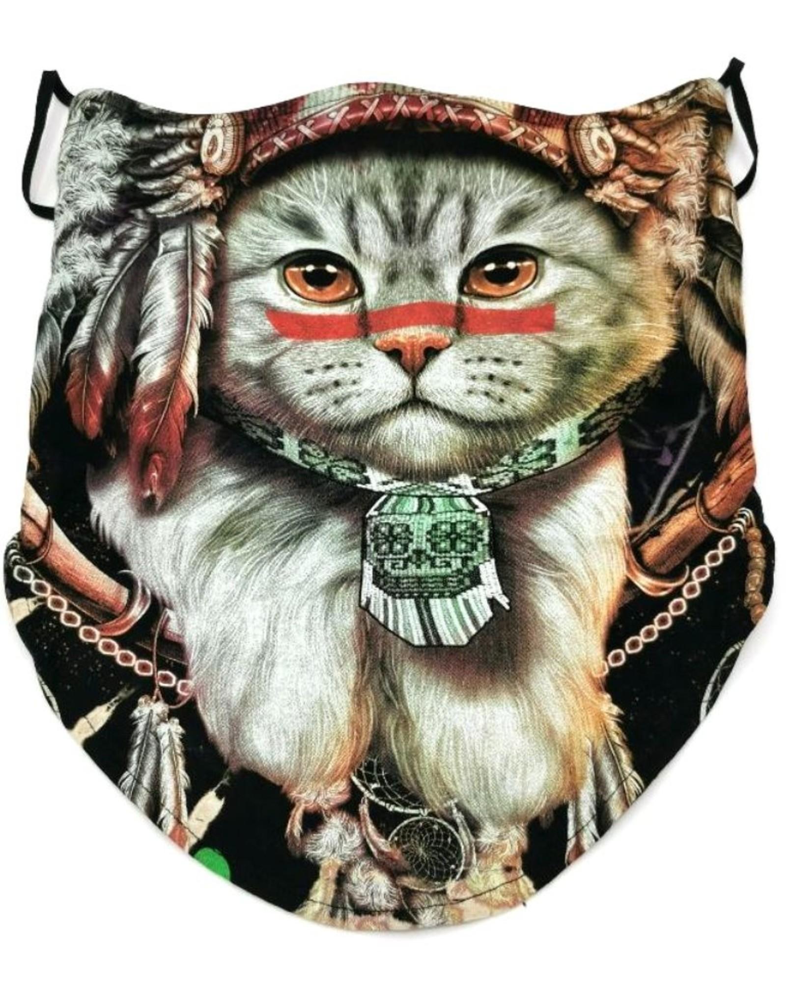 Wild Design Biker sjaals -  Biker-sjaal Indian Cat