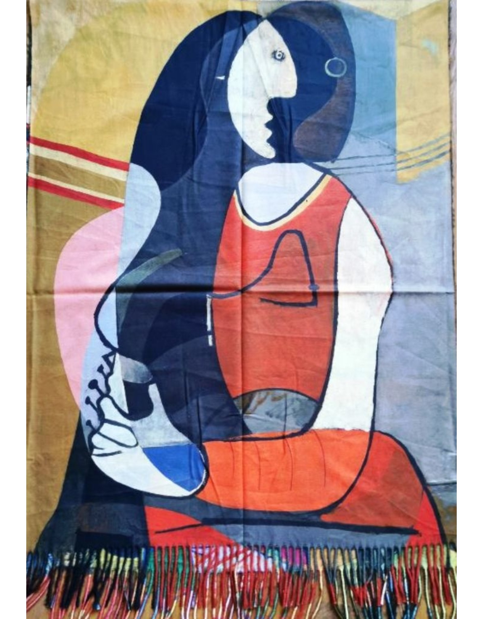 MC Miscellaneous - Omslagdoek Picasso Seated Woman met dubbelzijdige opdruk