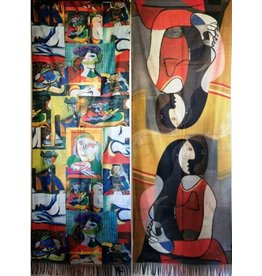MC Shawl Picasso - Seated Woman double sided print