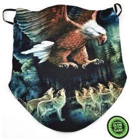 Biker-scarf Eagle and wolves