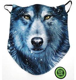 Biker-sjaal Blauwe Wolf