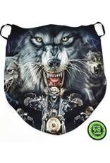 Wild Design Biker sjaals - Biker-sjaal Wolf en Biker