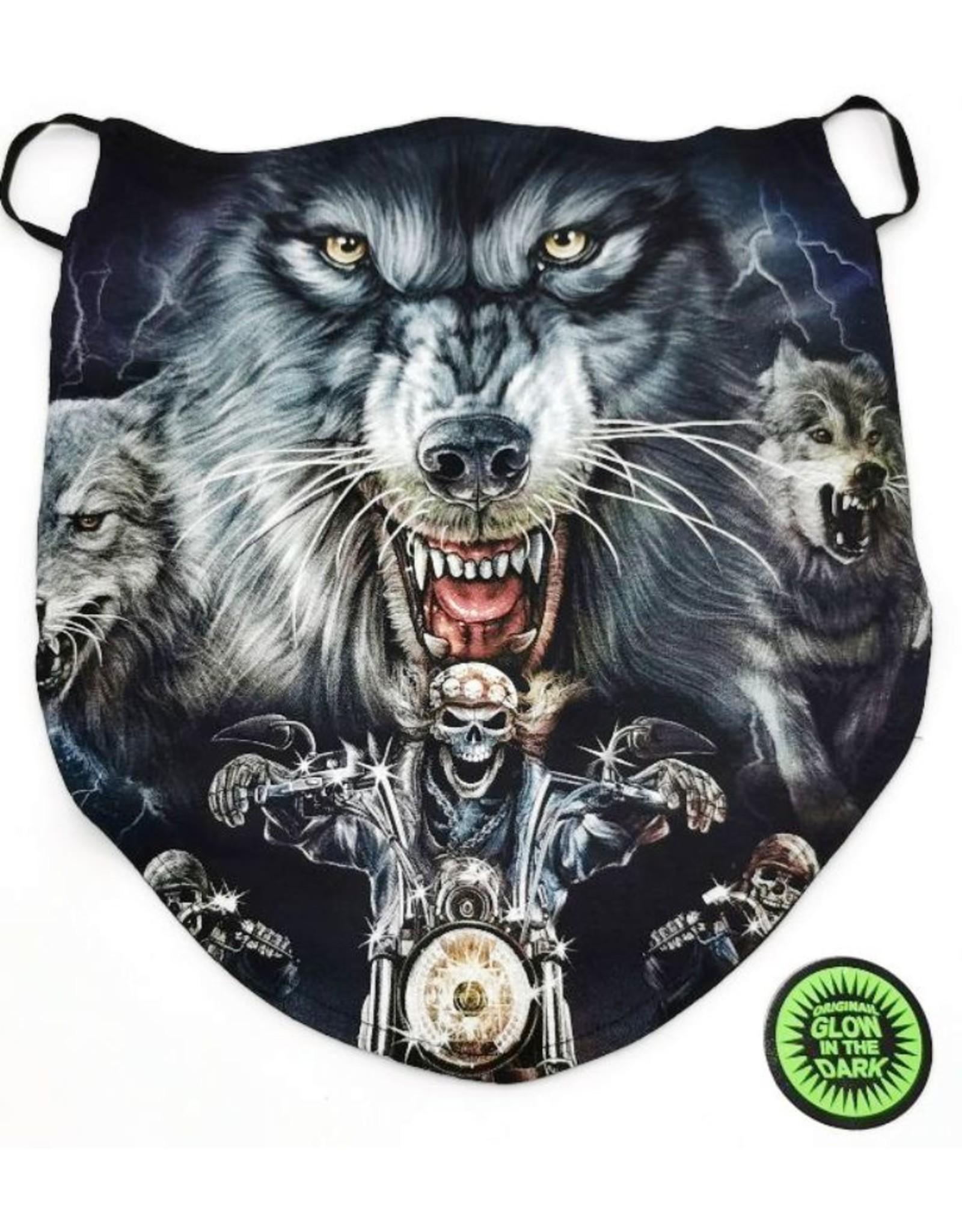 Wild Design Biker scarfs - Biker-scarf Wolf and Biker