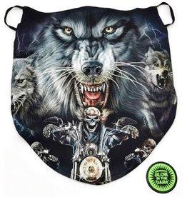 Wild Biker-sjaal Wolf en Biker