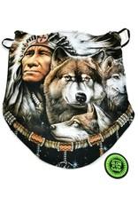 Wild Design Biker scarfs - Biker-scarf Indian and Wolf