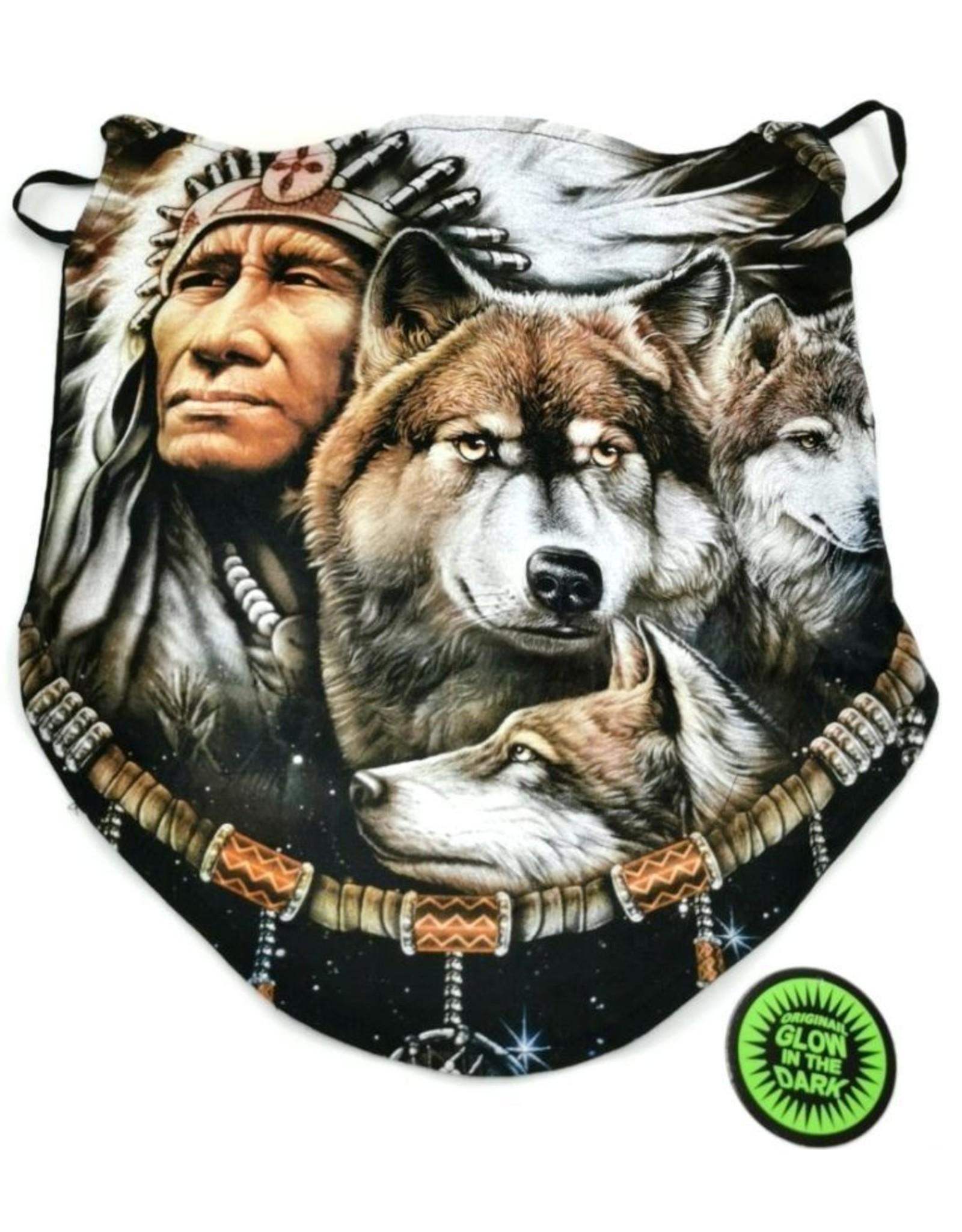 Wild Design Biker sjaals - Biker-sjaal Indiaan en Wolf