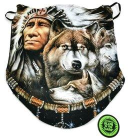 Wild Biker-sjaal Indiaan en Wolf