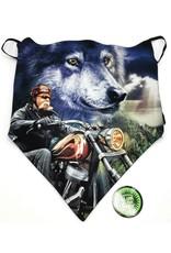 Wild Design Biker scarfs - Biker-scarf Biker and Wolf