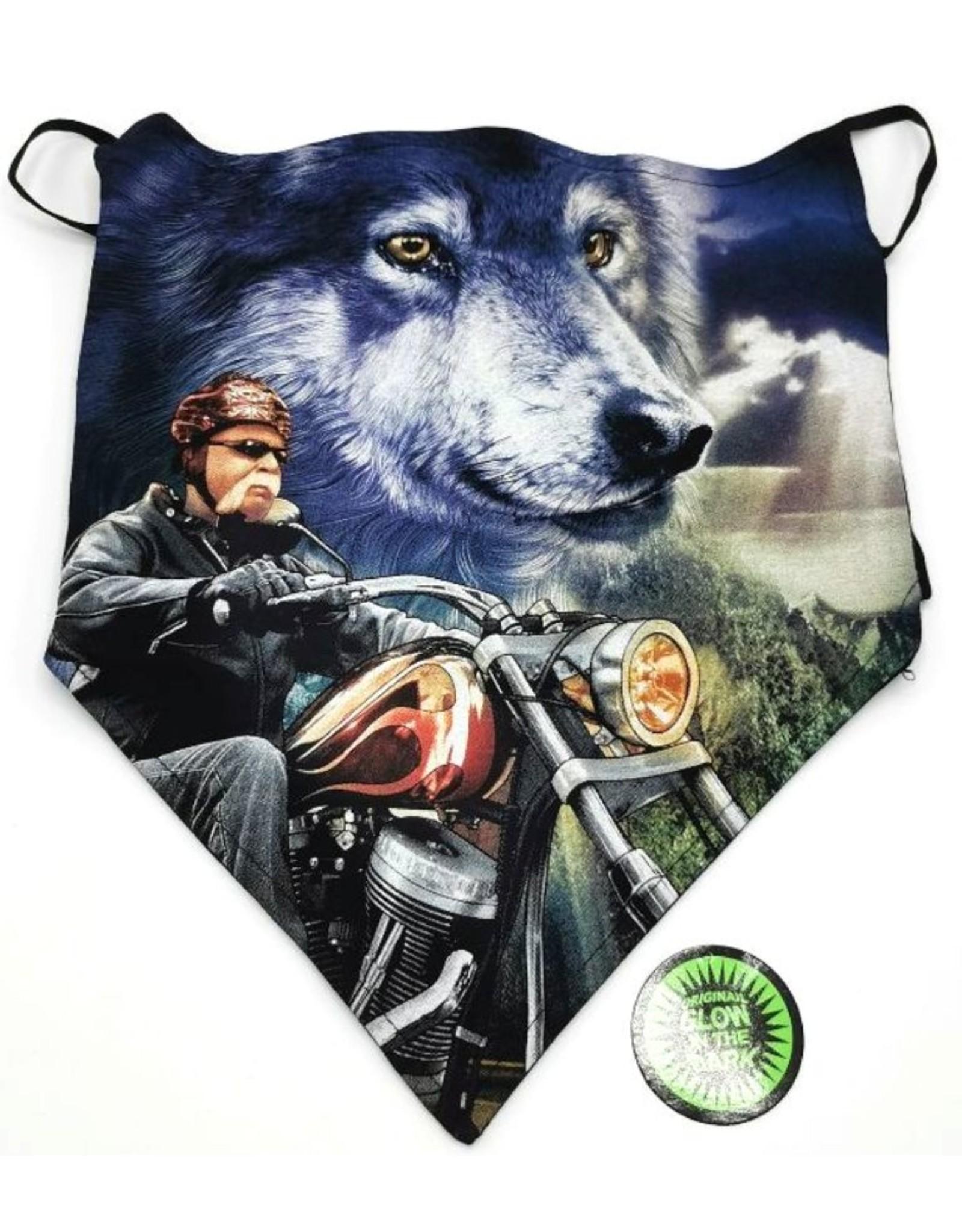 Wild Design Biker sjaals - Biker-sjaal Biker en Wolf