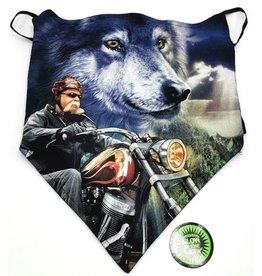Wild Biker-scarf Biker and Wolf