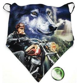 Wild Biker-sjaal Biker en Wolf