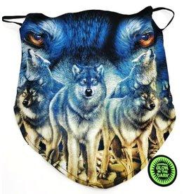 Wild Biker-sjaal Wolven