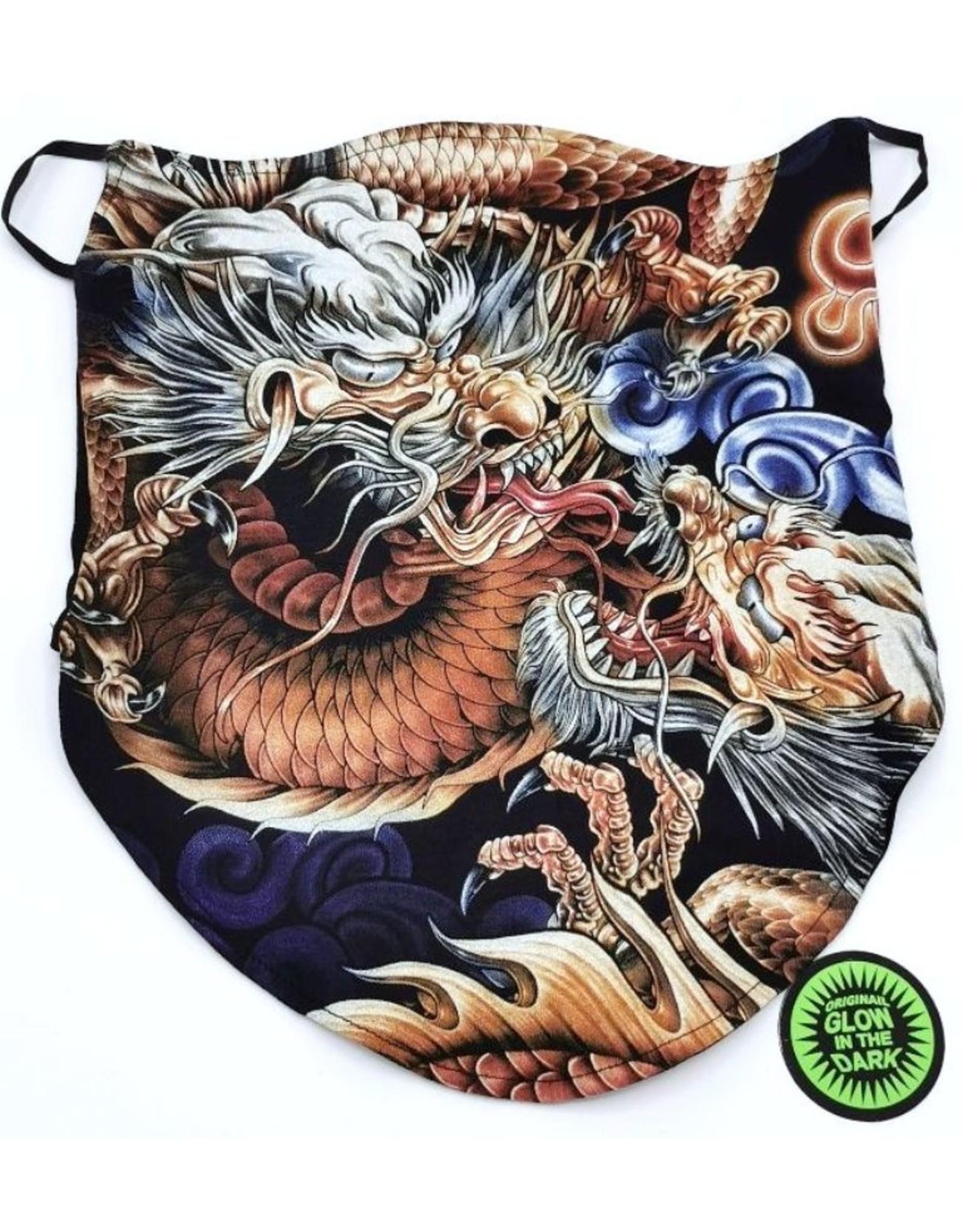 Wild Design Biker scarfs - Biker-scarf Dragon Fight