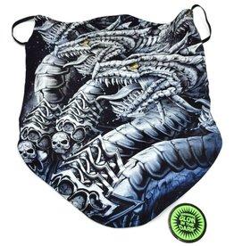 Wild Biker-scarf Dragon Twins