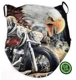 Biker-sjaal Adelaar op Motor