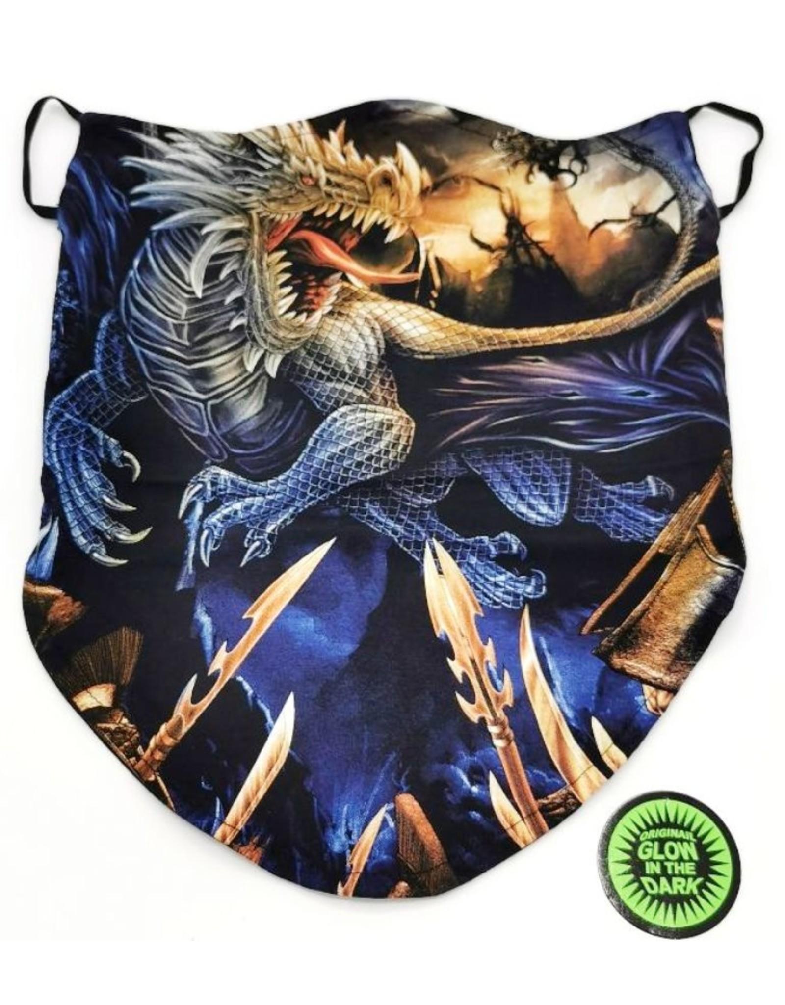 Wild Design Biker sjaals - Biker-sjaal Blauwe Draak