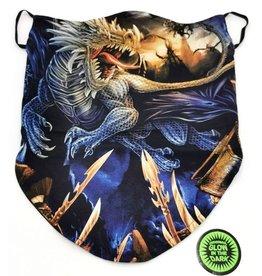 Biker-sjaal Blauwe Draak