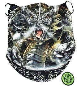 Biker-scarf Dragon and skull