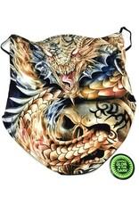 Wild Design Biker scarfs - Biker-scarf Dragon and tribal skull