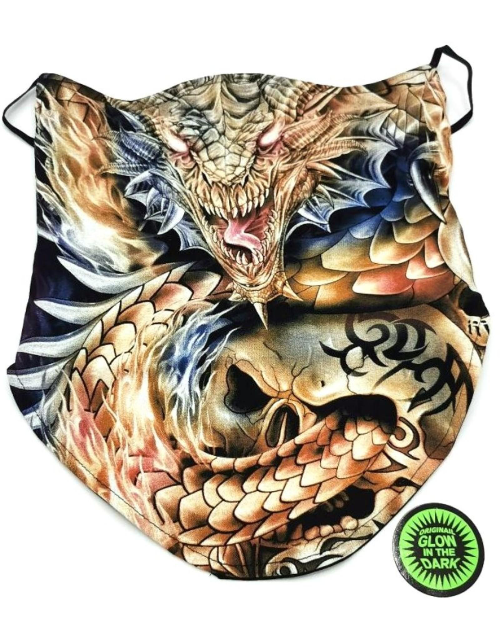 Wild Design Biker sjaals - Biker-sjaal Draak met tribal schedel
