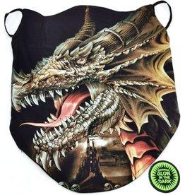 Wild Biker-sjaal Bruine Draak