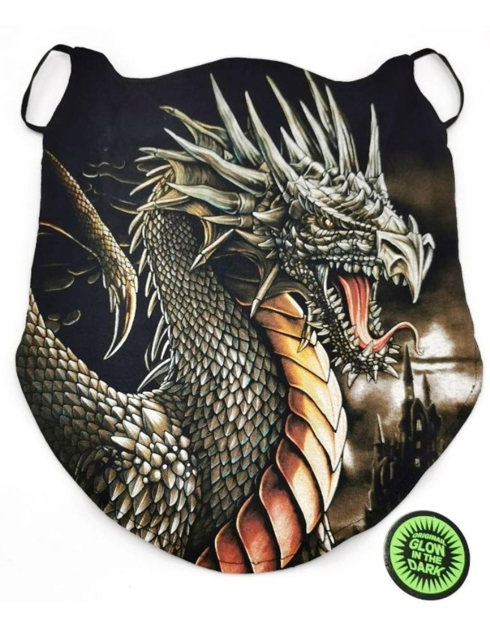 Wild  Design Biker sjaals - Biker-sjaal Grijze draak