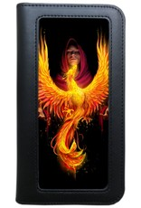 Anne Stokes 3D Wallets and Purses - 3D Lenticular  Phone Wallet Phoenix Rising - Anne Stokes